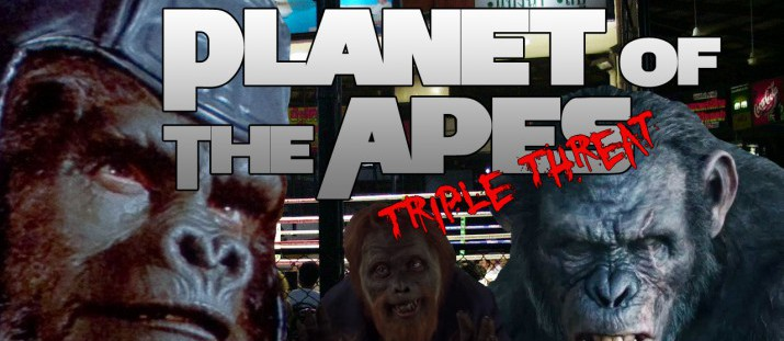 Planet of The Apes Triple Threat